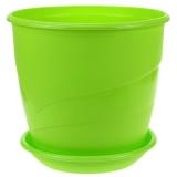 """Горшок """"Венеция"""", зелёный, с поддоном, 5,5л"""